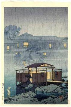 HASUI Japanese Woodblock Print RIVER SPA 1933 | eBay