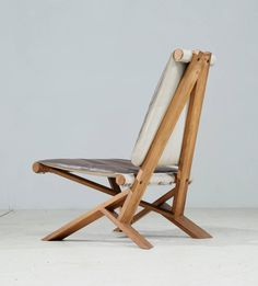 Pierre Chapo; #S46 Wood and Leather Lounge Chair, 1970s.