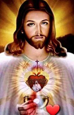Jesus E Maria, Jesus Christ Images, Jesus Prayer, Heart Of Jesus, Divine Mercy, Holy Cross, Jesus Loves You, Mother Mary, Sacred Heart