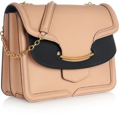 Alexander Mcqueen The Heroine Leather Shoulder Bag in Pink (blush/ black) - Lyst