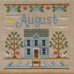 Cottage Of The Month- August Cross Stitch Pattern