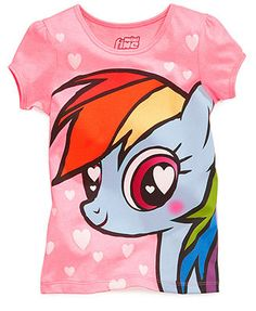 Mighty Fine Little Girls' Graphic Tee