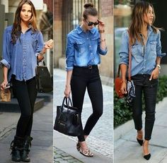 Stunning Ripped Jeans Ideas To Look Fast Fashion, Autumn Fashion, Fashion Looks, Fashion Outfits, Womens Fashion, Petite Fashion, Fashion Design, Casual Fall, Business Casual