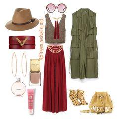 """#Shopping #Style #Hat #NewYork #LA #Miami #Hollywood #Fashionista"" by treasures-ive-found on Polyvore featuring Zara, River Island, Christian Dior, Moschino, Rusty, Valentino, Rosa de la Cruz, Accessorize and Lancôme"