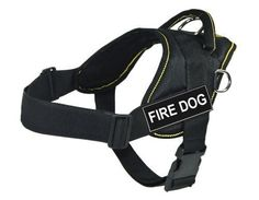 Dean  Tyler DT FUNW FIREDOG YTS DT Fun Works Harness Fire Dog SmallFits Girth 56cm to 69cm Black with Yellow Trim >>> You can find out more details at the link of the image.Note:It is affiliate link to Amazon.