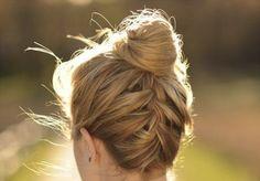 upside down french braid | Tumblr