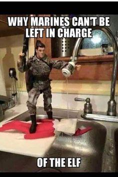 Noooooo!! Marine Memes, Marine Corps Quotes, Marine Corps Humor, Funny Army Memes, Funny Quotes, Funny Pranks, Military Jokes, Military Party, Funny Xmas