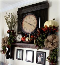 20 Living Room Mantles with Gorgeous Fall Decors