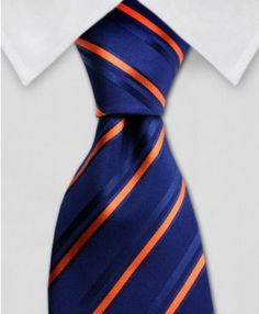 Orange & Navy Tie - Might look great with our orange & navy wedding theme!