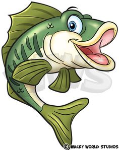 Cartoon Bass Cartoon Sea Animals, Cartoon Fish, Cartoon Art, Fish Cartoon Drawing, Painting Patterns, Fabric Painting, Inkscape Tutorials, Fish Drawings, Cartoon Sketches
