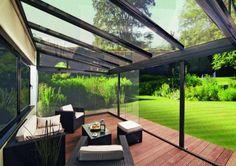 Faites un toit en verre pour votre terrasse moderne - Дом Карен - Extérieur de la maison Diy Pergola, Pergola With Roof, Patio Roof, Pergola Kits, Diy Patio, Patio Ideas, Patio Awnings, Patio Slabs, Cement Patio