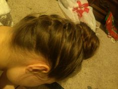 Fucking nailed the upside down briad and bun combo. Sexy  ;)