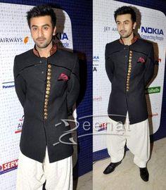 Manish Malhotra Sherwani on Ranbir Kapoor   Zeenat Style