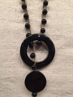 Flair of Sophistication Jet black ONYX statement  Y by wandandwear