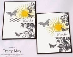 More Thank You's using Stampin' Up!'s Kinda Eclectic stamp set