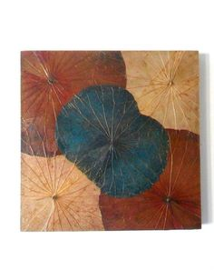 Handmade Real Natural Lotus Leaf Leaves Art on by WoodCarvingArt