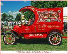 1915 Model T Ford Coca Cola delivery van Coca Cola Poster, Coca Cola Ad, Always Coca Cola, World Of Coca Cola, Ford Classic Cars, Classic Chevy Trucks, Chevy Classic, Antique Trucks, Vintage Trucks