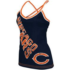 Reebok Chicago Bears Ladies Navy Blue Cheer Tank Top