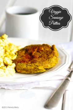 Veggie Sausage Patties for a high-protein, filling veggie breakfast!