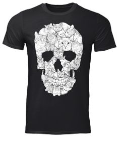 Sketchy Cat Skull T-shirt graffiti Best Quality Graphic Print made in order and sale premium t-shirt gift for him or her. Skull Shirts, Cat Shirts, Cool T Shirts, Skull Hoodie, Cat Sweatshirt, Women's Day 8 March, 8th March, Cat Skull, Moda Masculina