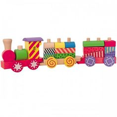 Купете Woody - Дидактически влак Шареното влакче - малко