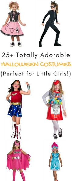 OMG, these Halloween costumes for little girls are ADORABLE! So much fun picking the perfect little girl Halloween costume!