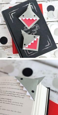 Cute Origami, Paper Crafts Origami, Origami Art, Felt Bookmark, Origami Bookmark, Kids Art Galleries, How To Make Bookmarks, Corner Bookmarks, Book Maker