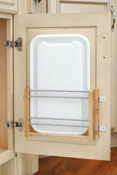 Cutting Board Holder - or you can attach a Metal File Holder onto the inside of a kitchen cupboard to store cutting boards.