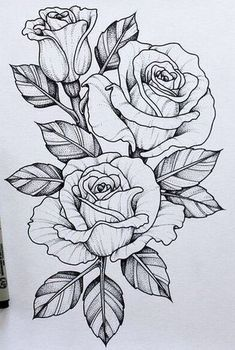 Resultado de imagen para Dagger Knife and Rose Flowers Drawn in Tattoo Style