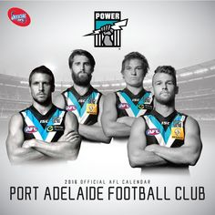Shop for Port Power guernseys and other merchandise Sports Birthday Cakes, 2016 Calendar, Love My Boys, Toddlers, Teal, Football, Club, Black And White, Store