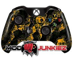 Hydro Dipped Orange Reaper Zombie Xbox ONE Controller