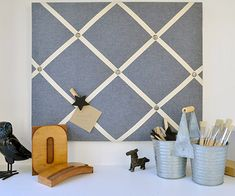 Light Denim Memo Board-MEMO BOARDS