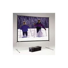 "Da-Lite Fast Fold Deluxe Portable Projection Screen Viewing Area: 57"" H x 103"" W"