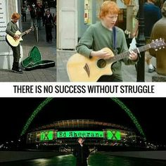 There is no success without struggle..