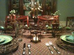 Grapevine Easter Tablescape