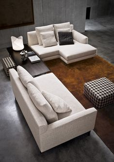 sectional divided by a table