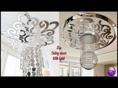 ❣️DIY CEILING DECOR WITH LIGHTS ❣️| ART AND CRAFT | DIY CRAFTS | FASHION PIXIES - YouTube Home Decor Trends, Diy Home Decor, Diy Arts And Crafts, Diy Crafts, Fantasy Craft, Dollar Tree Decor, Unique Wall Decor, Ceiling Decor, Light Art