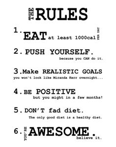 health and fitness quotes | The #RULES, honey, follow them. #quote #fitness by daniela.fuchs.144