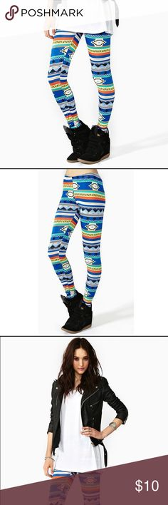 Nasty gal leggings Tribal print leggings purchased from nasty gal. Size small Nasty Gal Pants Leggings