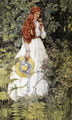 Is she not pure gold, my mistress? ~ Eleanor Fortescue Brickdale ~ (English: 1871-1945)