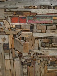 Love these textures and the patina of weathered wood - Salvabrani Scrap Wood Art, Reclaimed Wood Wall Art, Wooden Art, Weathered Wood, Wood Wood, Painted Wood, Diy Wood, Art Sculpture, Wall Sculptures