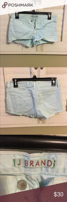 JBRAND SHORTS Light blue JBRAND shorts 💙💙 they are lightly used and so so cute!! Send me an Offer and LETS NEGOTIATE J Brand Shorts Jean Shorts