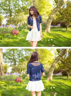 Bubble Sleeve Cardigan, $29.99. Available in blue, pink and white.
