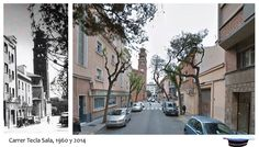 Carrer Tecla sala 1960 y 2014