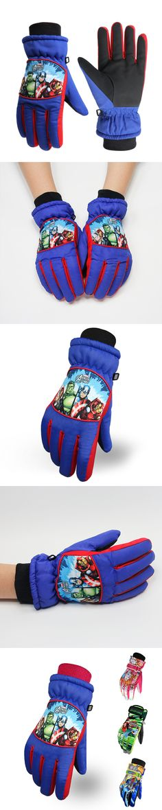 611fb890e01 Winjfo 5-14 Years Old Children Winter Gloves For Kids Ski Gloves For Boys  And