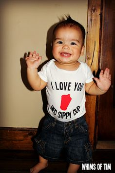 I love you Red Sippy Cup onsie. This is too cute...I love it!!!