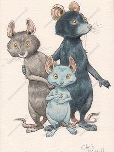 Children's Book Illustration. -   Chris Riddell