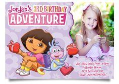 Dora birthday invitation dora birthday party pinterest birthdays dora invitation dora birthday invitation 750 via etsy filmwisefo