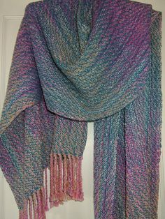 Hand dyed, handwoven shawl from Lazykate Designs