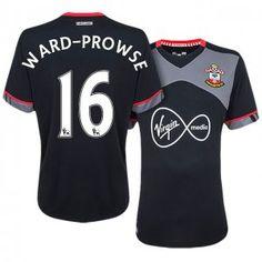 Southampton Away 16-17 Season #16 Ward-Prowse Black Soccer Jersey [J252]